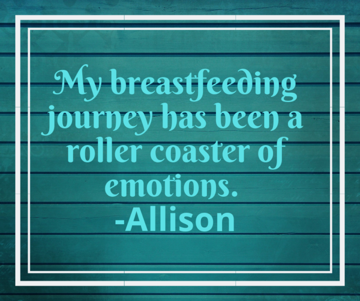 Breastfeeding emotional roller coaster